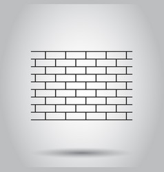 wall brick stone icon on isolated background vector image