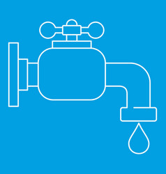 water tap icon outline style vector image