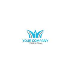 way church logo design vector image