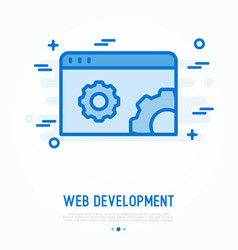 web development thin line icon vector image