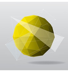 Yellow globe modern geometrical background vector
