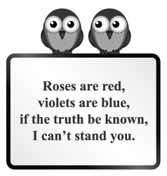 Cannot stand you poem vector