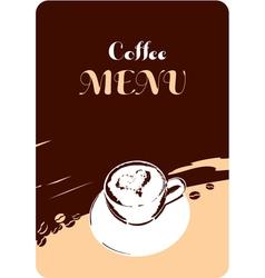 coffee menu template design vector image