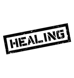 Healing rubber stamp vector