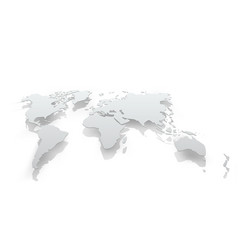 Image of world map paper vector