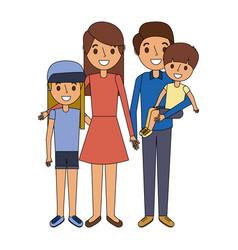 mom sitting in sofa with her daughter and son vector image