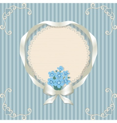 Retro background and forgetmenot vector image