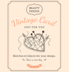 sketch needle bar and text vector image vector image