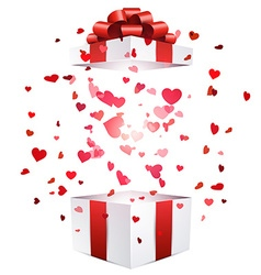 Valentine background with gift vector image vector image