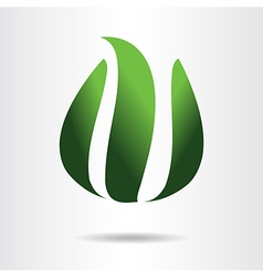 Logo element green vector image