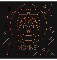Monkey Lines Yellow vector image vector image