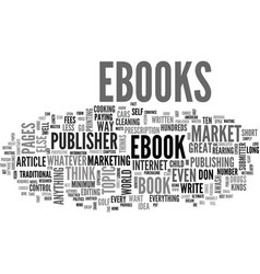 why market ebooks text word cloud concept vector image vector image