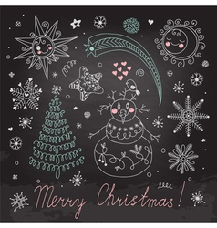 Christmas elements for design vector image