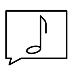 music note thin line icon pictogram vector image