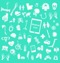 set medical icon vector image vector image