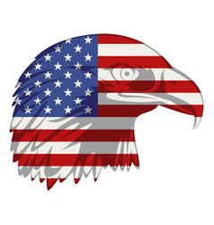 american flag in eagle head vector image vector image