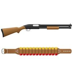 shotgun 02 vector image