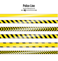 yellow with black police line danger security vector image vector image