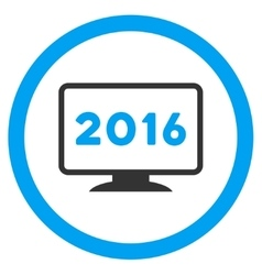 2016 Display Icon vector image