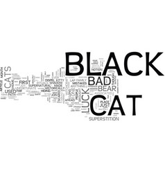 A black cat is just a cat text word cloud concept vector