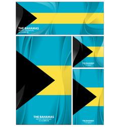 Abstract bahamas flag background vector