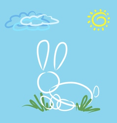 abstract easter rabbit vector image