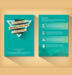 Abstract triangle brochure retro flat design vector