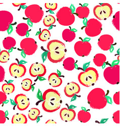 apple background painted pattern vector image