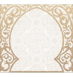 Arabic greeting background Arch Muslim vector