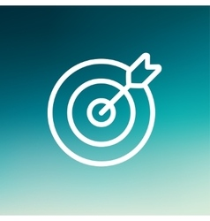 Arrow hit the target thin line icon vector image