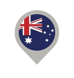Australian flag pin map location vector