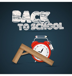 Back to school theme vector image
