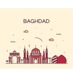 Baghdad skyline linear style vector