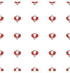Balloon icon pattern seamless white background vector