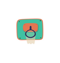 Basket cartoon icon sport vector