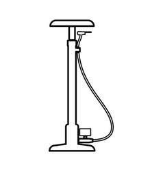 Bicycle pump black icon vector