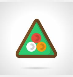 billiard triangle flat color icon vector image
