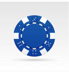 blue casino chip vector image