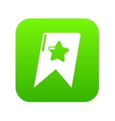 Bookmark browser icon green vector