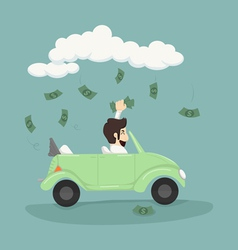 Businessman catching money vector