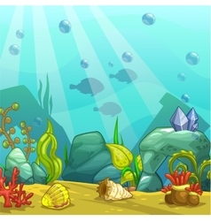 Cartoon underwater vector image