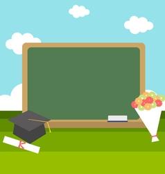 Celebrations graduation with blackboard vector
