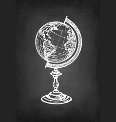 chalk sketch globe vector image