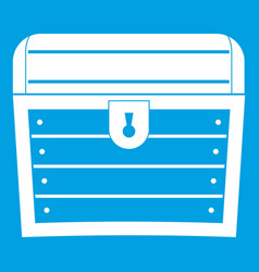 Chest icon white vector