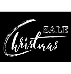 Christmas sale hand drawn lettering Handmade vector