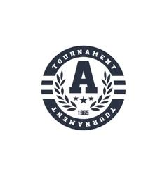 Classic Round Sport Label vector image