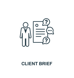Client brief icon thin line style symbol from vector