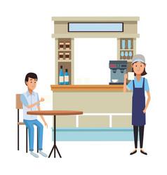 Coffee store cartoons vector