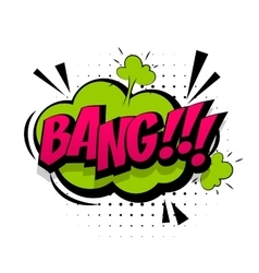 Comic green sound effects pop art word bang vector