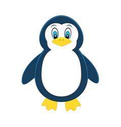cute cartoon penguin exotic animal vector image